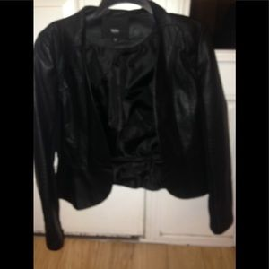 Mossimo cropped pleather jacket